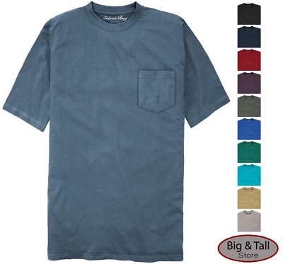 Falcon Bay Big & Tall Men's 100% Cotton Pocket T-Shirt  3XL - 8XL 2XLT - 6XLT - Falcon Bay Big And Tall T-shirt