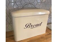 Cream Enamel Bread Bin (harderly used)