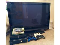 40inch Panasonic TV with XBOX 360 (inc. 6x games, 4x controllers) & Digibox
