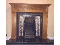 Stunning cast iron gas fireplace. Good condition and in full working order.