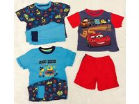 Disney Cars Pyjama Pj Bundle 4-5 Years Yrs Blue Bundle Pair of 3 Transport