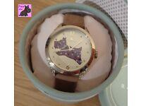 Radley RY2180 Ladies 'Spotty Dog' Tan Leather Strap Watch - NEW RRP: £90