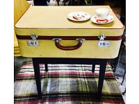 Vintage Suitcase Storage Table