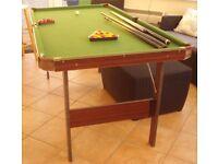 Pool Table 180cm x 95cm with folding legs