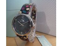 Radley - RY2185 Ladies Black 'Dotty Dog' Leather Strap Watch - NEW RRP £65