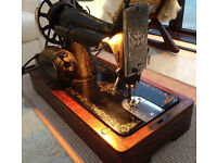 Antique SINGER 99K Heavy Duty Electric Sewing Machine
