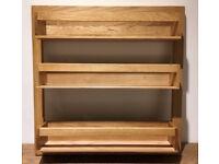 Solid Oak Spice Rack KitchenOrganiser Storage Wren Living Designer Kitchen New Boxed