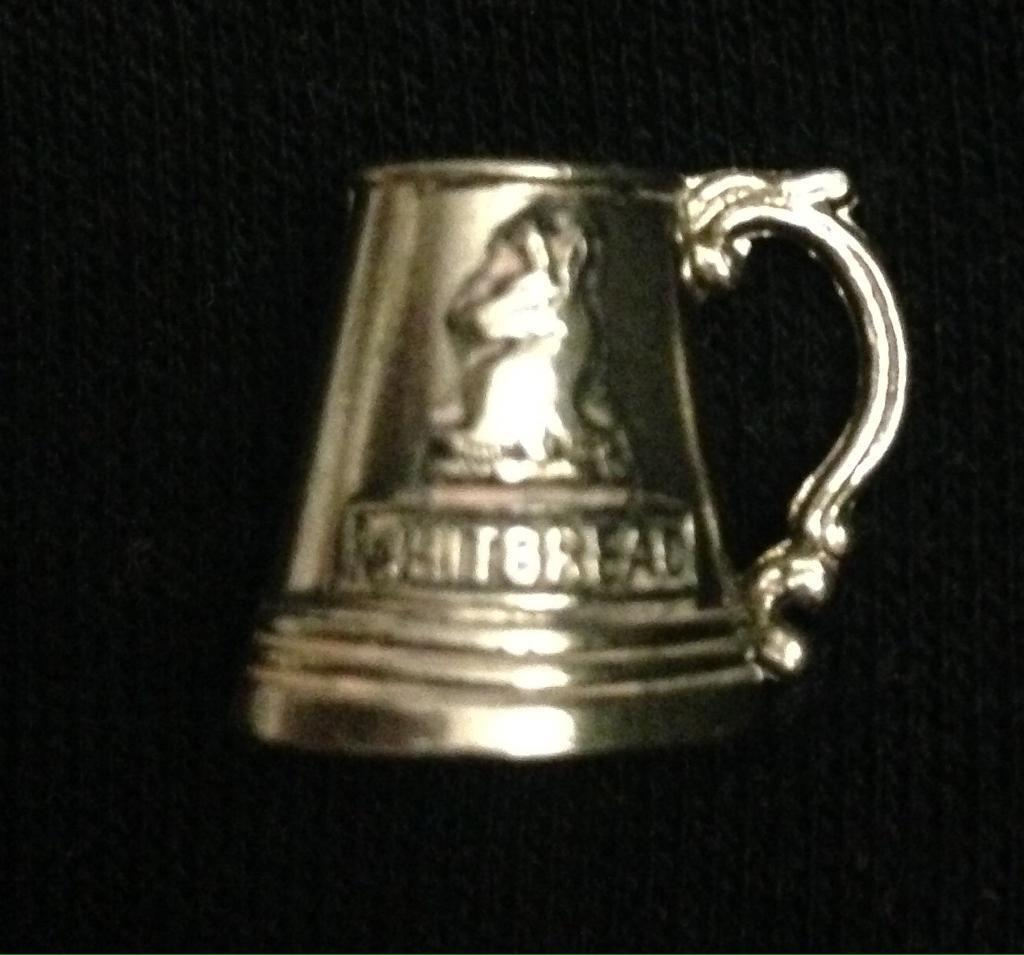 Tiny whitbread brewery silver jug