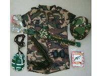 Army girl dressing up outfit and accessories