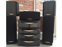 Kenwood Series 21 HiFi system – 5 Speakers, Multi CD, Remote - (Not Fully working in 5.1 Mode)