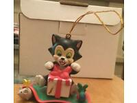 Grolier Disney Christmas tree ornament - Figaro
