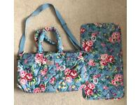 Large Cath Kidston changing bag and mat