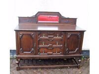 vintage hallway sideboard buffet with mirror upstand retro with useful storage, LOCAL DELIVERY POSS?