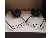 2 FCUK Designer Glasses, unisex, with cases, barely used & great condition