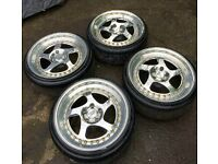 CCW LM5T wheels with tyres 5x112 18x9j
