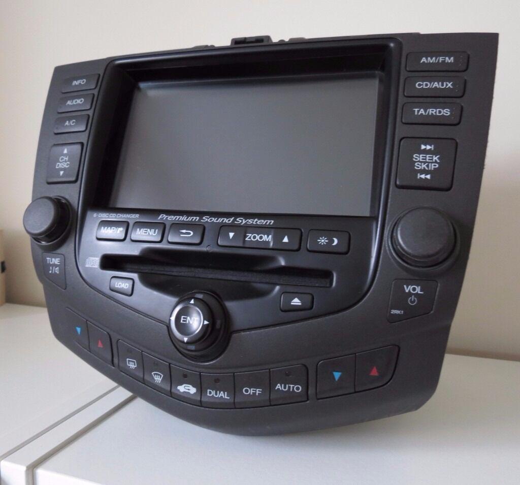 Honda Accord 2003 2007 Radio Stereo 6 Disc Cd Player