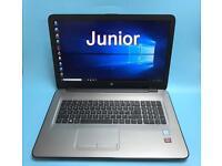 """HP i5 UltraFast 17.3"""" Full HD, 8GB DDR4, 1TB SSHD Gaming Laptop, Radeon R7 M440, Boxed Like New"""