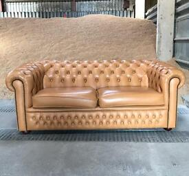 Chesterfield Leather Sofa / Settee - Large Two seater - REDUCED !!
