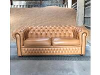 Chesterfield Leather Sofa / Settee - Large Two seater