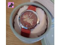 Radley RY2175 Ladies 'Spotty Dog' Red Leather Strap Watch - NEW - RRP: £95