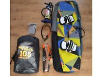 Liquid Force || Best Kiteboarding Full Beginners Kit, virtually brand new. 10.5m Kite, Board, & Bar