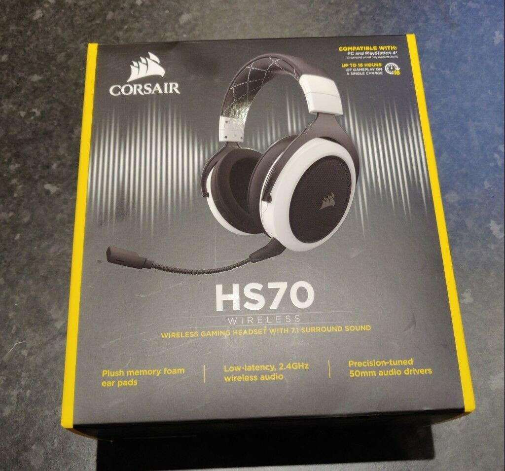 Corsair HS70 Wireless 7 1 Surround Sound Headset PC/PS4 Compatible | in  Harborne, West Midlands | Gumtree