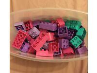 Mega Bloks minibloks tub- 80 pieces (pink purple)