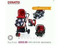 Cosatto Giggle 2 Hipster travel system with Car seat base