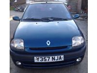 RENAULT CLIO 1.4, LOW MILEAGE, LOW INSURANCE, 50 MPG, MOT NO ADVISORIES, ALL PART-EXCHANGES WELCOME