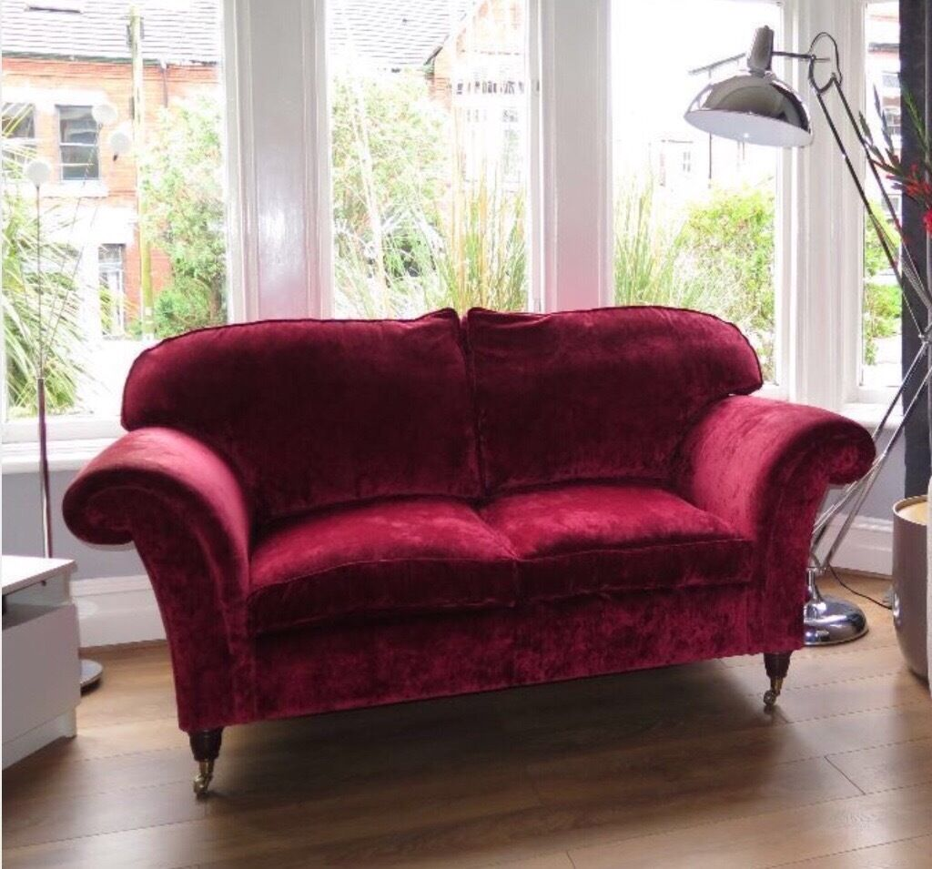 Sofa Laura Ashley Cranberry Velvet In Erdington West Midlands Gumtree