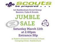 1st Haddenham Scouts Annual Jumble Sale