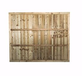 LawMac Fencing Manufacturers Suppliers in Leicester fence panel green/brown 6x3 Rail & Fully Framed