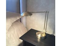 Italian design 2 x bedside lamps/ matching ceiling light white/gold