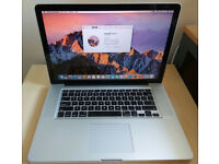Macbook Pro 15.4'' i5 2.53GHz 8GB DDR3 500GB HDD MacOS Sierra very good condition!