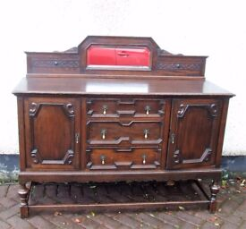 vintage hallway sideboard buffet with mirror upstand retro with useful storage, may assist deliver