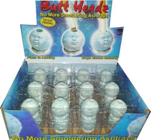 24 Butt Headz Heads Mr. moon Cigarette Butt Extinguisher Snuffer Ashtray
