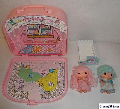 Vintage 1976 Sanrio Little Twin Stars Kiki Lala Dolls Fashionable Room Used