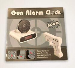 New Gun Alarm Clock Camo Target LCD Screen Novelty Shooting Gag Joke Dad Gift