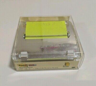 Post-it Pop Up Note Dispenser Silverchrome Notepad Holder 3 X 3 Square