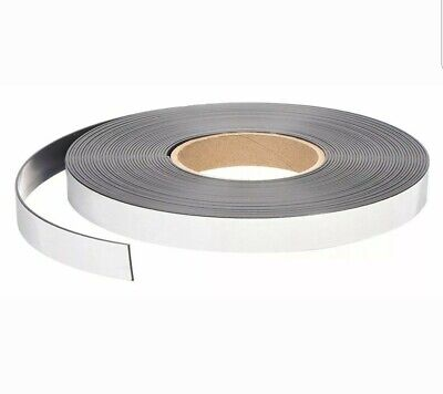 50ft. X 34 Self Adhesive Magnetic Strip Indooroutdoor Adhesive 9lb Max Pull