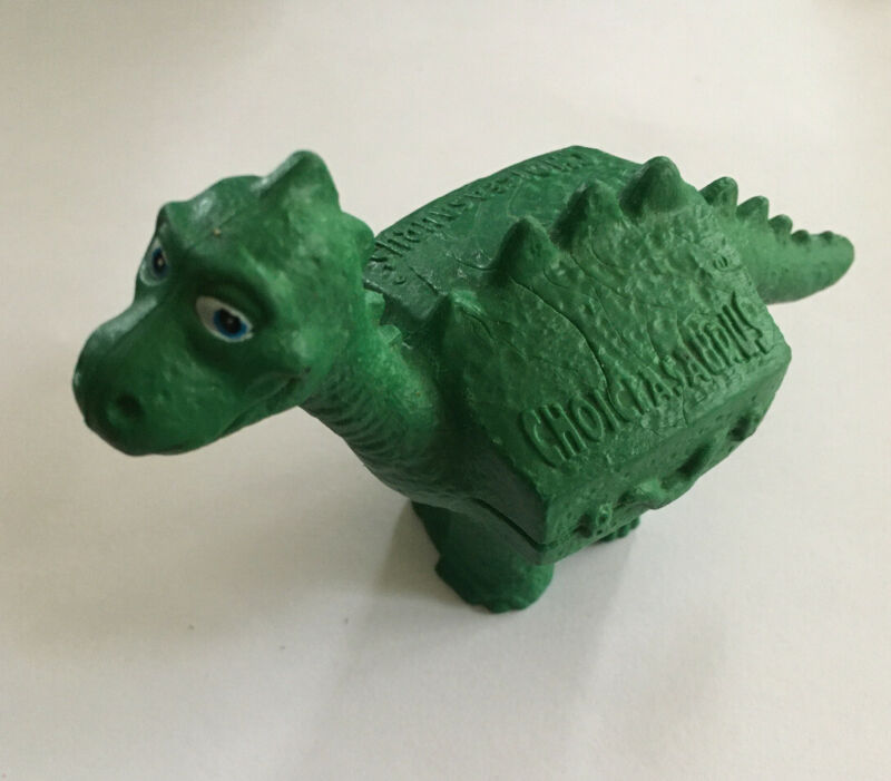 Vintage Choice Hotels Choicesaurus Rex Dinosaur PVC Figure Toy Suitcase Ad