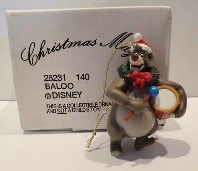 VTG Disney Baloo Jungle Book Grolier Christmas Magic Tree Ornament Cake Topper