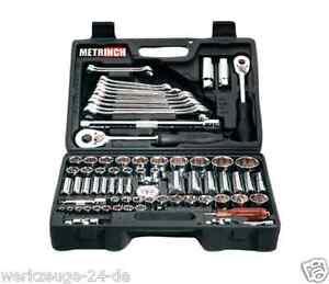 METRINCH Steckschlüssel & Ringmaulschlüssel-Satz Metrisch Zoll Werkzeug MET-0076