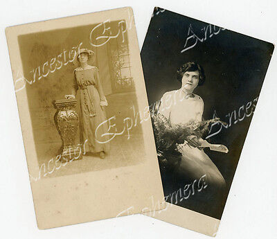 Marie THUMMEL BLACKMON 2 photos bn 1892 St Clair Illinois IL St Louis MO Oliver