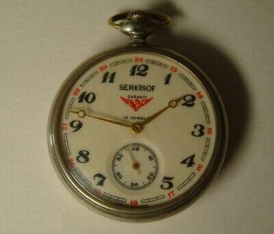 VINTAGE Rare Pocket watch - SERKISOF (Lightning). 1980s.