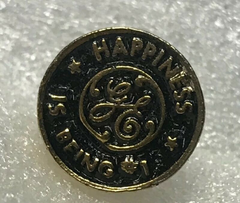 """General electric pin """" happiness is being #1"""""""