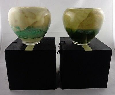 Esque Vase Candle - Pair Northern Lights Candles Esque Polished Vase, 6 -Inch, Ivory with Boxes, NY