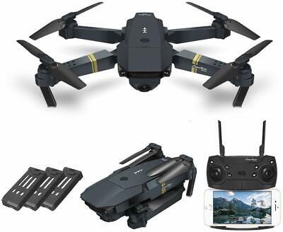 E58 720P Camera Wifi FPV Pocket Drone Selfie Quadcopter + 3 EXTRA Batteries