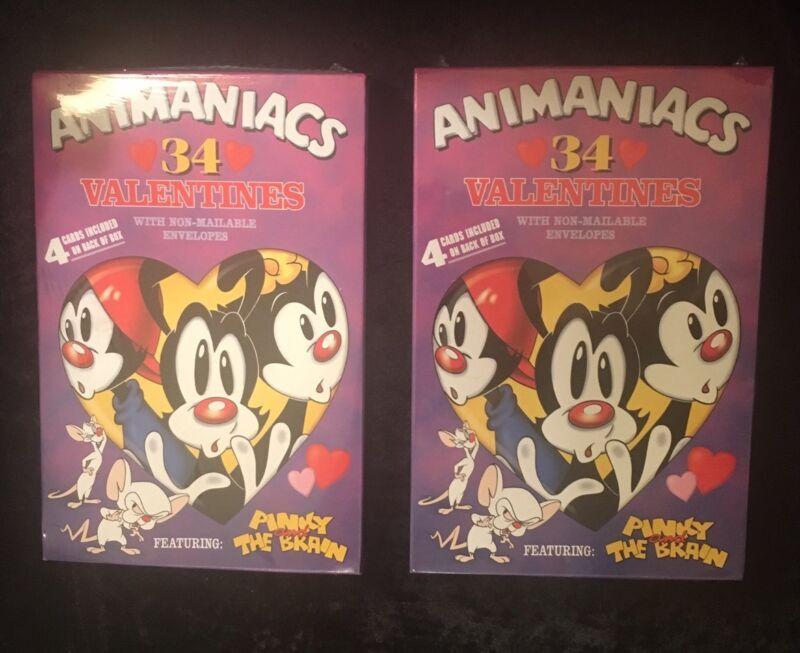 VINTAGE Animaniacs 90's Warner Bros. Collectable RARE Valentines Cards NIB
