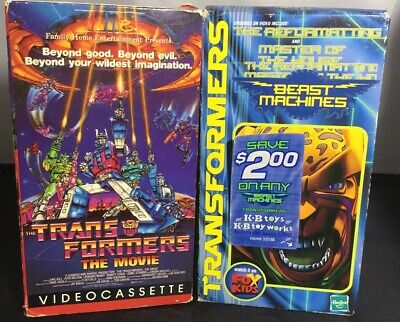 TRANSFORMERS THE MOVIE HASBRO SUNBOW BEAST MACHINES VHS MOVIE KB F.H.E.